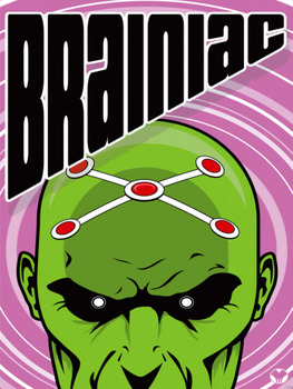 Brainiac DC Comics Superman Foe Sanat Dev Baskı Poster TXHOME D7498