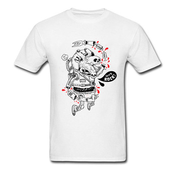 Mad Spaceman Serin T Shirt Mens Büyük Boy Hip Hop kaya Bas T-Shirt Sarı Comic Anime Tişört Bahar Yaz Tops Tees